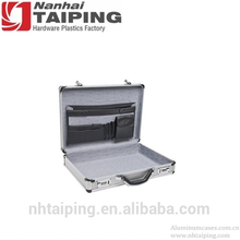 Silver Laptop Briefcase Aluminum Sturdy Carry Case