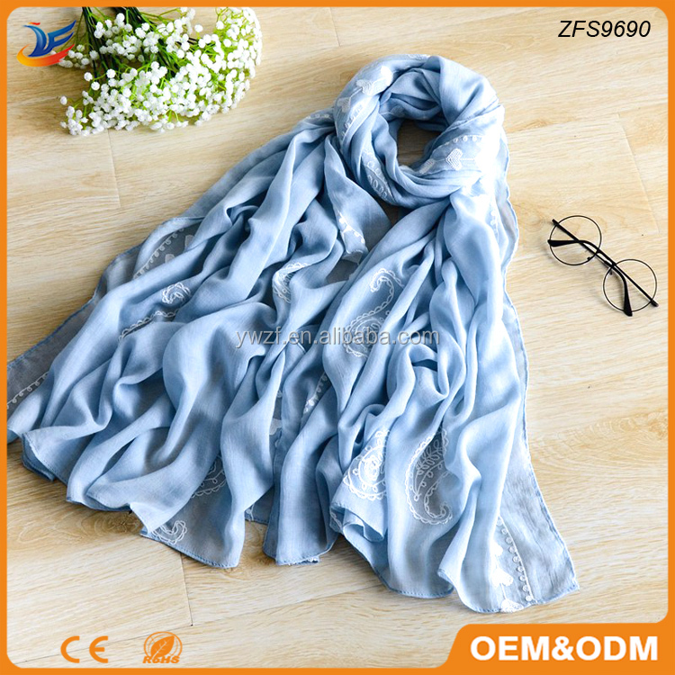 muslim head cover scarf embroidery muslim scarf hijab for women