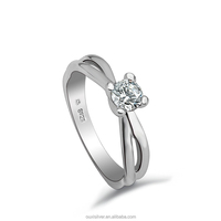 OUXI zircon diamond custom fashion wedding ring Y70013