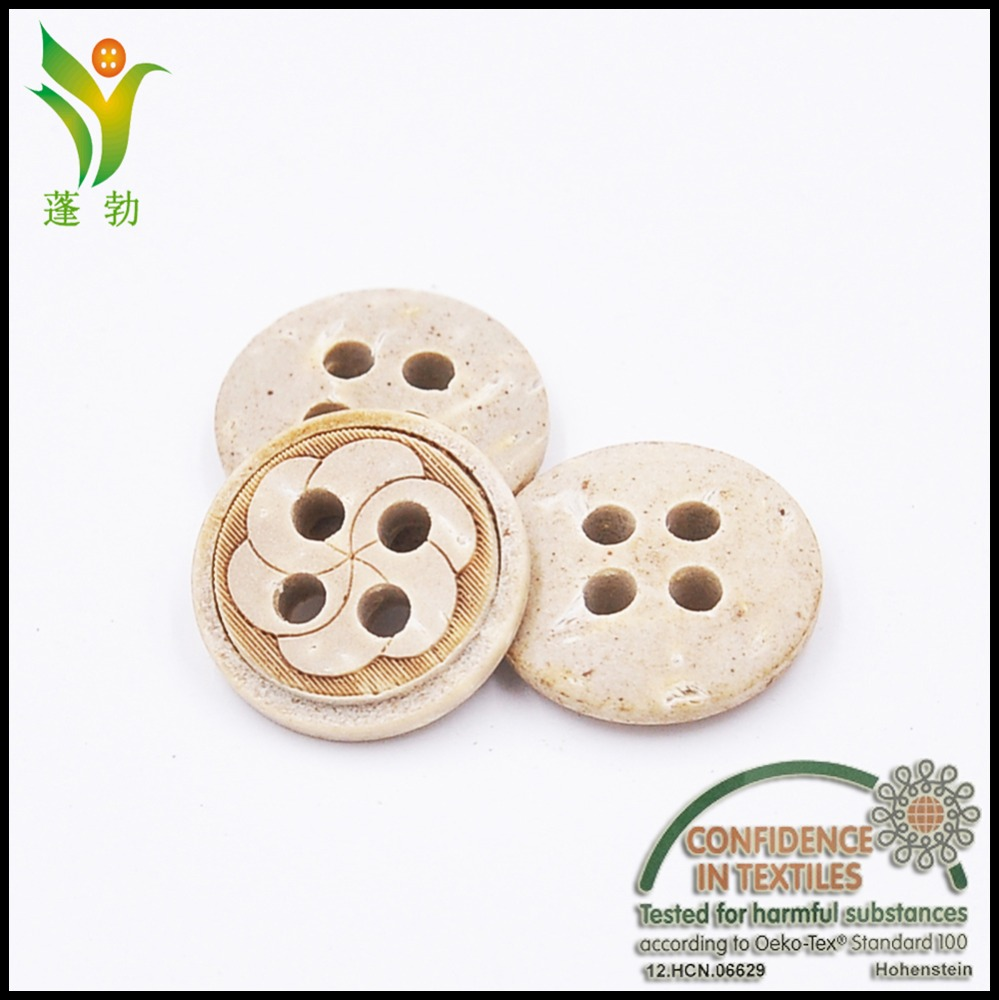 YZK016 flower laser natural coconut buttons