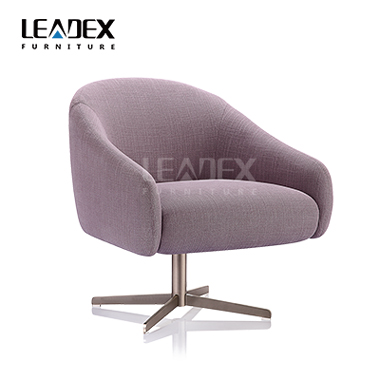 Foshan office furniture round fabric leisure chair with armrest