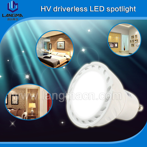 Plastics+Aluminum lamp body SMD 2835 led chip dimmable gu10 mini led spotlight