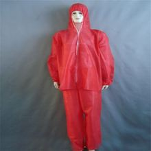 Polypropylene Coverall With Disposable Long Sleeves Elastic Hood Sms Fabric