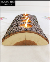 50% off new arrivals 3 piece wood votive candle holder