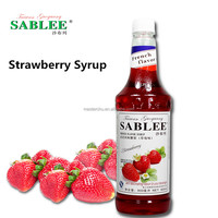 SABLEE strawberry flavor syrup for coffee 900ml