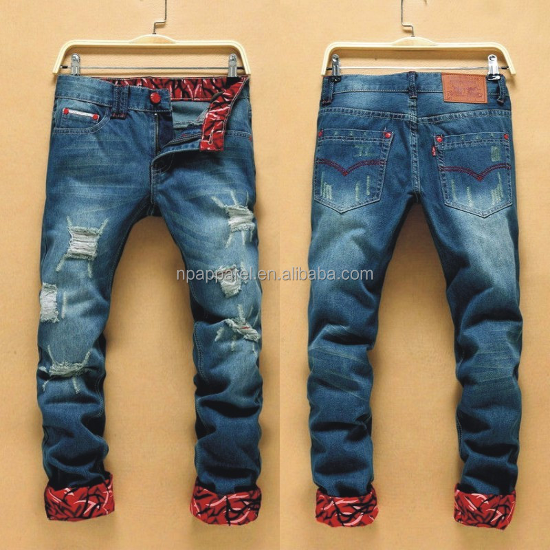 2016 Beswlz Brand Ripped Jeans Men Casual Fashion Classical Male Denim Jeans Men Straight Male Scratched Blue Jeans Homme 6121