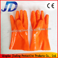 JD868 PVC dipped protection work gloves for Heavy duty industry