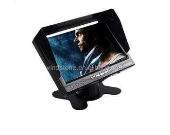 12-24V stand alone dashboard 7 inch LCD car monitor with Sun visor and 2 way input