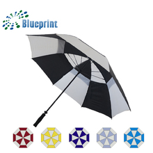 Wholesale cheap double layer windproof golf umbrella