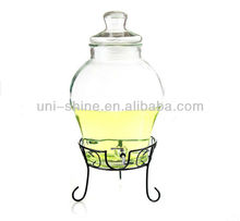 10L glass jar for wine with plastic/SS tap