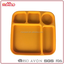 Best selling products 5 compartments plastic separated plates