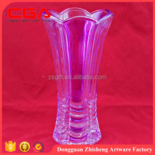 Home decorations item type purple color small glass vase whole sale