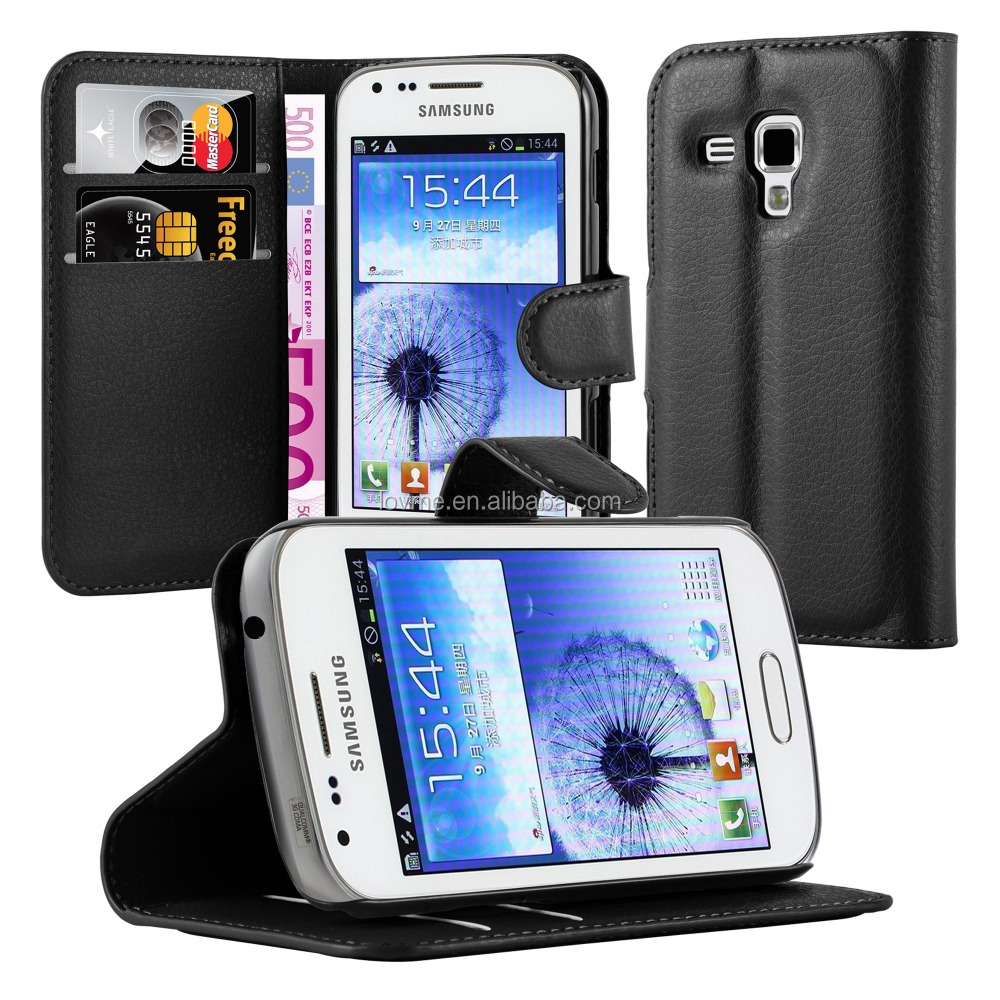 Premium Wallet Leather Moblie Phone Case Cover for Samsung Galaxy Trend DUOS