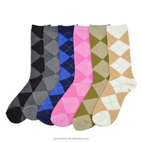 2016 Morewin Hosiery Argyle Business Sock,Custom Knitting man Cotton Sock