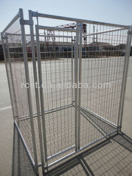 Hot dip galvanized round tube dog cage