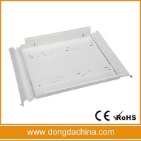 4*18w fluorescent light fixture/louver fitting/grid lighting fixture with white housing body