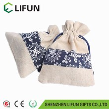 2017 Custom logo print small jute jewelry pouch jute bag wholesale