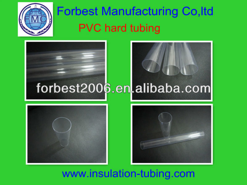 Transparent hard tube PVC / Pvc rigid transparent tube