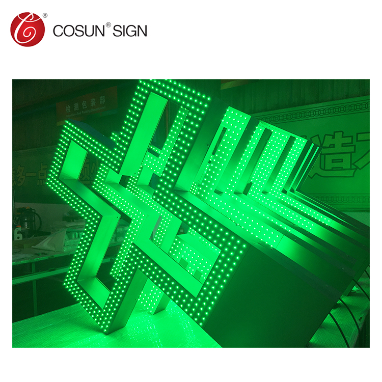 2019 high quality decorated LED facelit channel letters sign