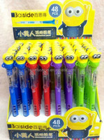 TF-01150901020 2015 New Cute Cartoon Minions Gel pen Lovely Despicable Me Pen for Kids School Supplies