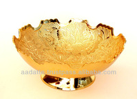 Gold plated bowl gift item beautiful kitchen accessory brass gold plated bowls