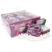 Grape Flavor Mints in Tin Low Calorie Confectionery