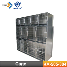 KA-505-304 Heavy-duty Modular Dog Crate Stainless Steel Pet Cage Wholesale