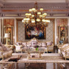 Luxury French Baroque Bright Color Living