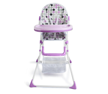 simple and light weight High adjustable high back plastic arm chair free baby high chair