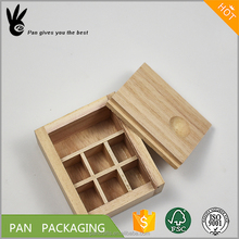 Custom unfinished paulownia wooden packaging box with slider lid