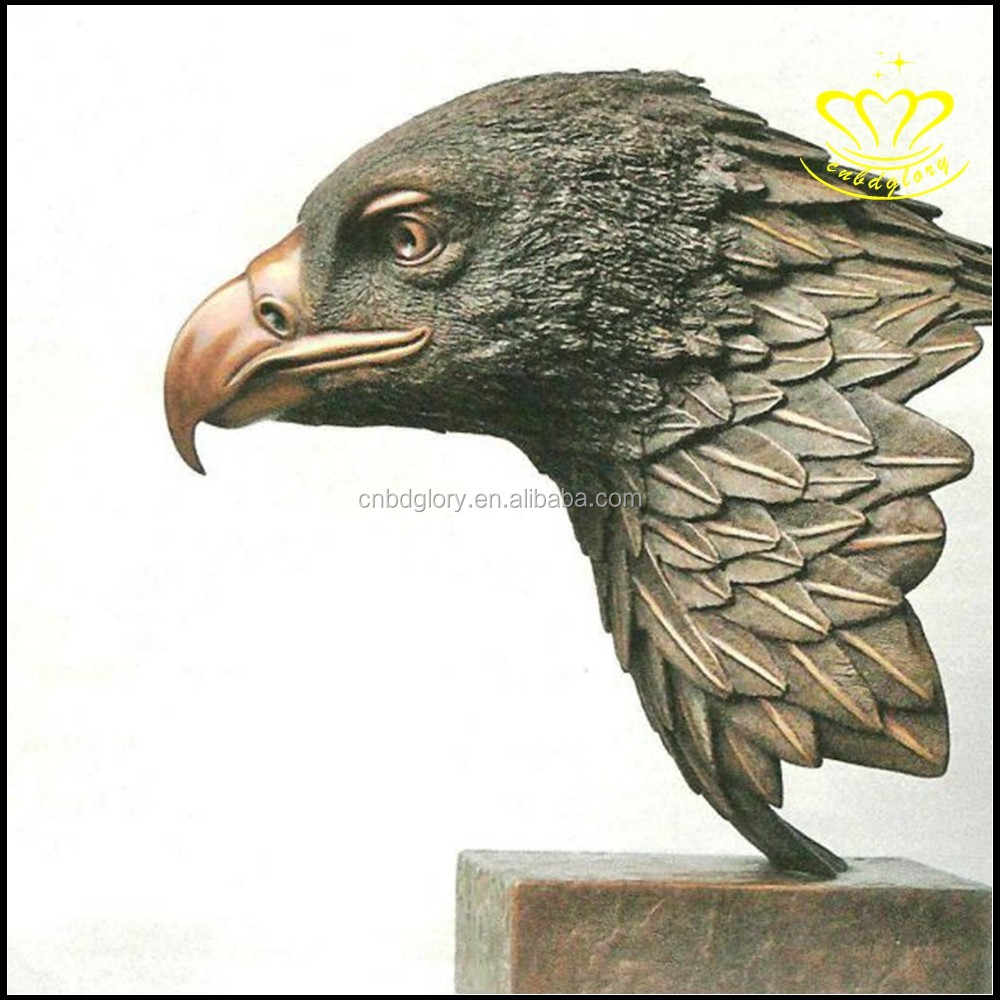 High Quality bronze eagle hawk head sculpture