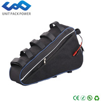 Customize 48v 15ah lithium-ion battery triangle style rechargeable 48V 1000W electric bike battery with triangle bag+BMS
