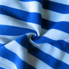 Hotsale sailor suit garment yarn dyed striped 100% cotton fabric