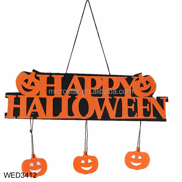 Halloween 1pcs Doorplate Hanging Home Window Door Pumpkin Halloween Hanging Ornaments Party Supplies