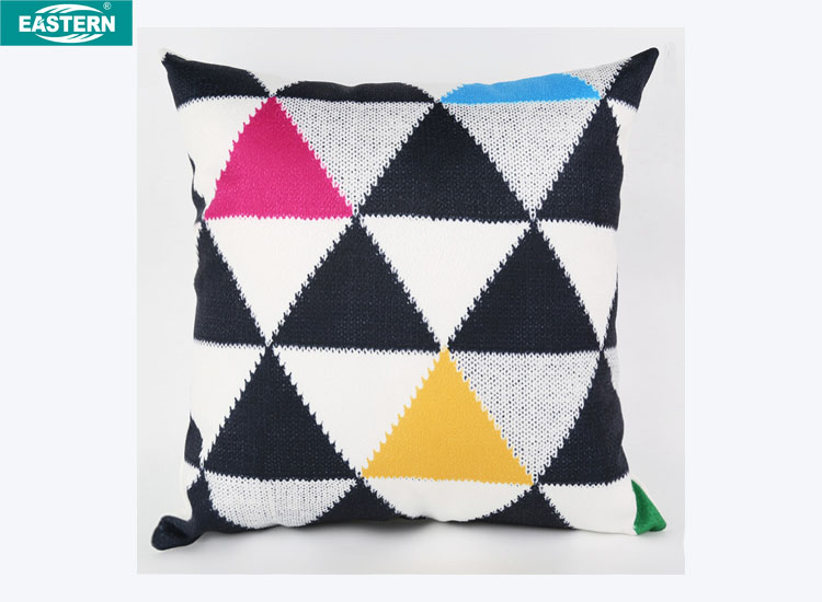 Triangle pattern printing cushion cover kilim pillow christmas pillow cover