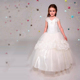 Factory price dress for girls ball gowns big tiered floor length high quality wedding dresses flower girl white V neck