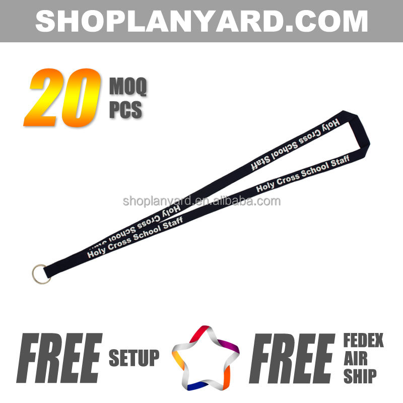 Cheap Custom Tubular Imprinted Lanyard for gifts&events