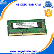 Good ETT chipsets with good price ddr3 4gb ram laptop