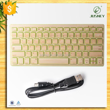 Guangzhou Wholesale Wireless Gaming Laptop Connected Keyboard Thin 100% Natural Wood/Bamboo Far Distance Connected Keyboard
