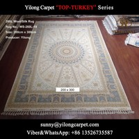 double knotted 200x300cm wool/silk handamde persian carpet toronto