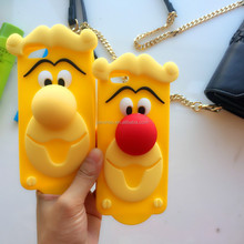 New sale Lovely cartoon Clown 3D soft high-quality silicone cover case for phone 6/7