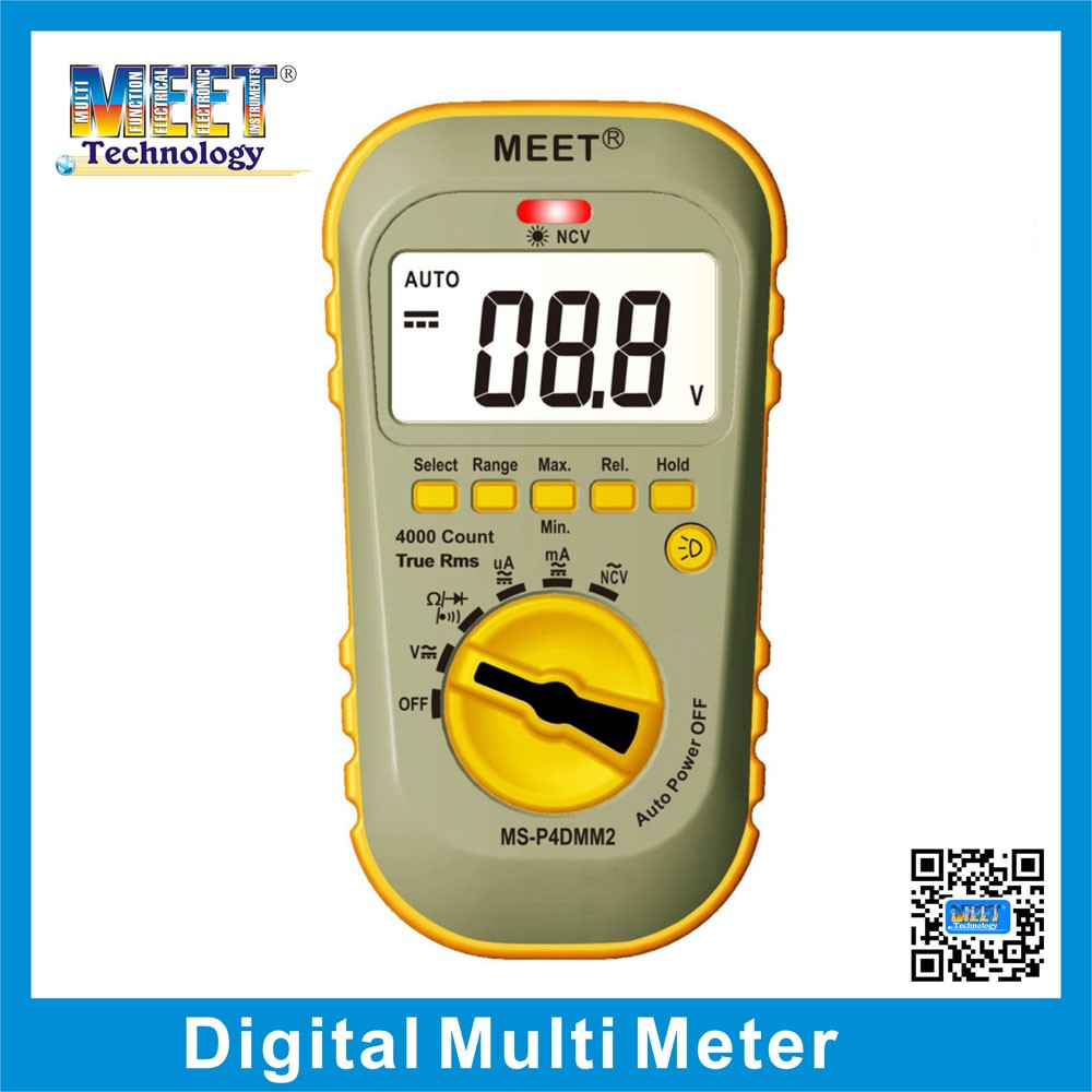 MS-P4DMM2 Intelligent 4000 count Digital Multimeter with Voltage Detection