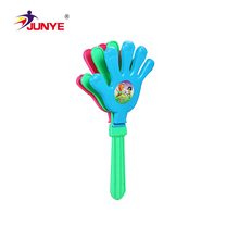 3 Different Size Option Custom Design Colorful Plastic Fan Hand Clapper