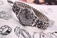 Fashion design leopard print watches wholesale for 2015