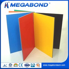 Megabond Top Quality aluminum composite panel specifications yellow red