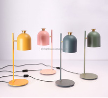 Good quality china supply industrial style study bedside bar iron colorful table lamps for home decor