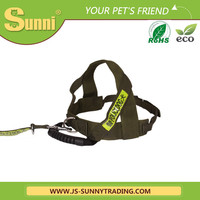 Rope dog harness leather dog collar