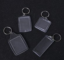 Clear acrylic photo keychain picture keyrings