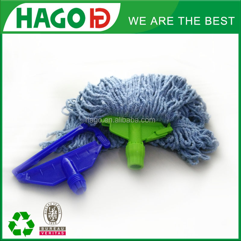 floor cleaning microfiber 100% cotton/polyester wet mop head