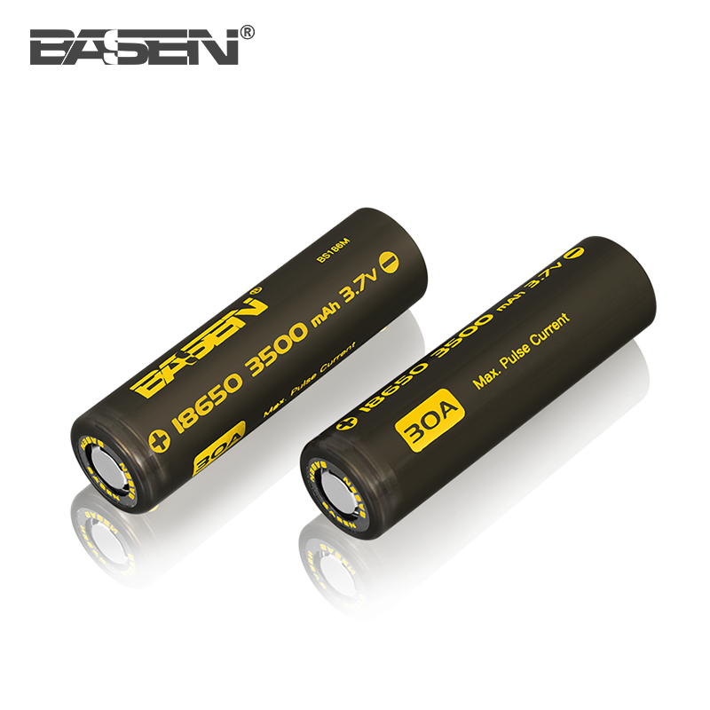 Factory price BASEN 18650 3500mah li-ion battery cell 3.7v 30A electric motorcycle battery